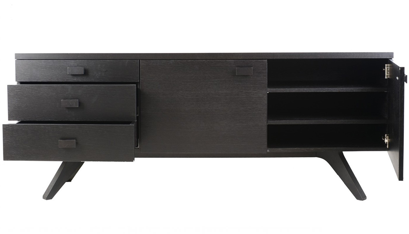 Case Cross Sideboard | Heal's in Black Oak Wood And Wrought Iron Sideboards (Image 8 of 30)