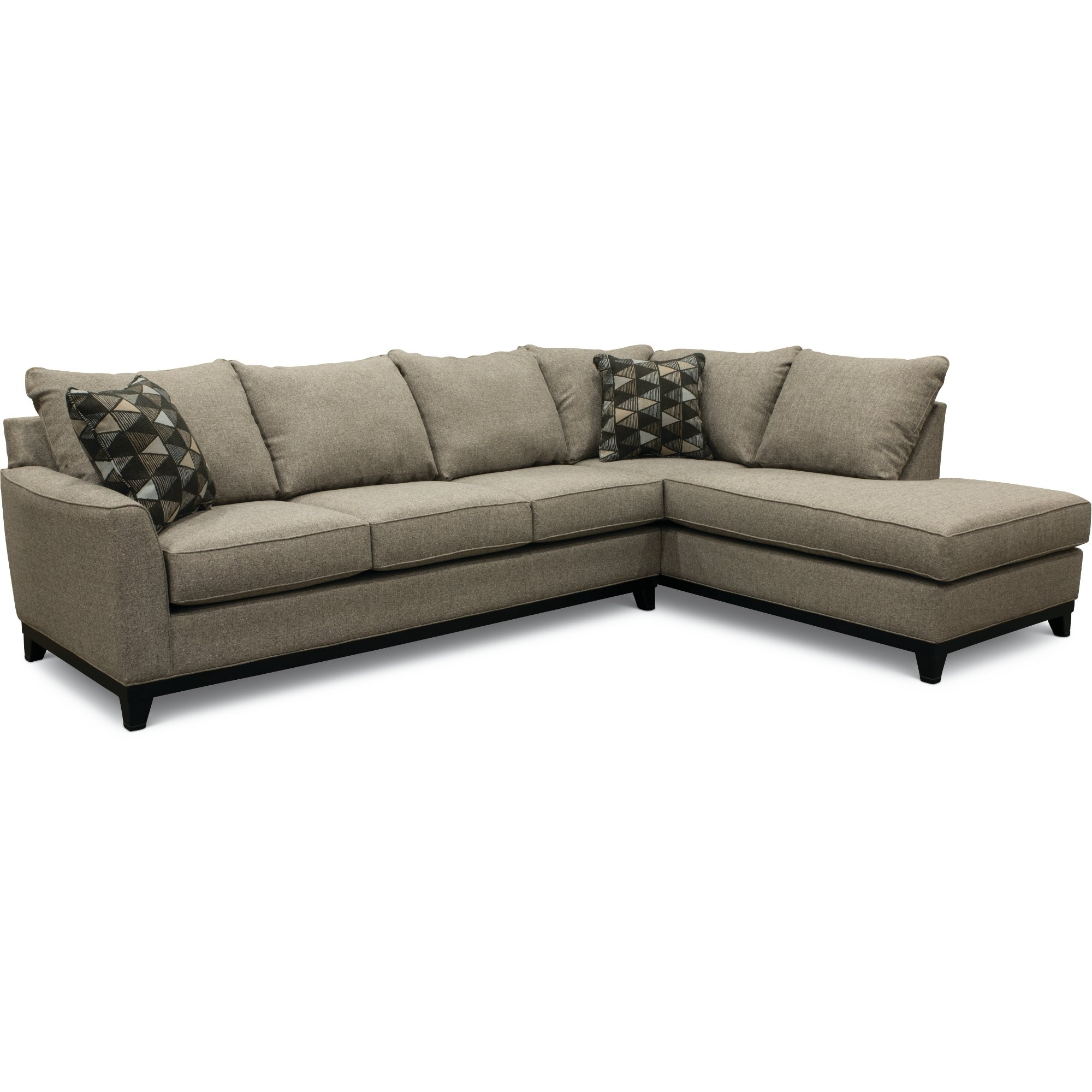 Casual Contemporary Slate Gray 2 Piece Sectional Sofa - Emerson | Rc intended for Jobs Oat 2 Piece Sectionals With Left Facing Chaise (Image 4 of 30)