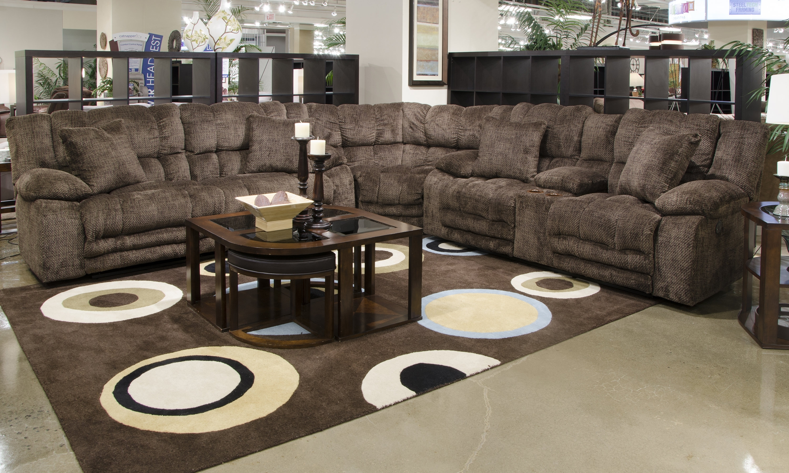 Catnapper Branson Reclining Sectional | Wayfair with regard to Karen 3 Piece Sectionals (Image 7 of 30)