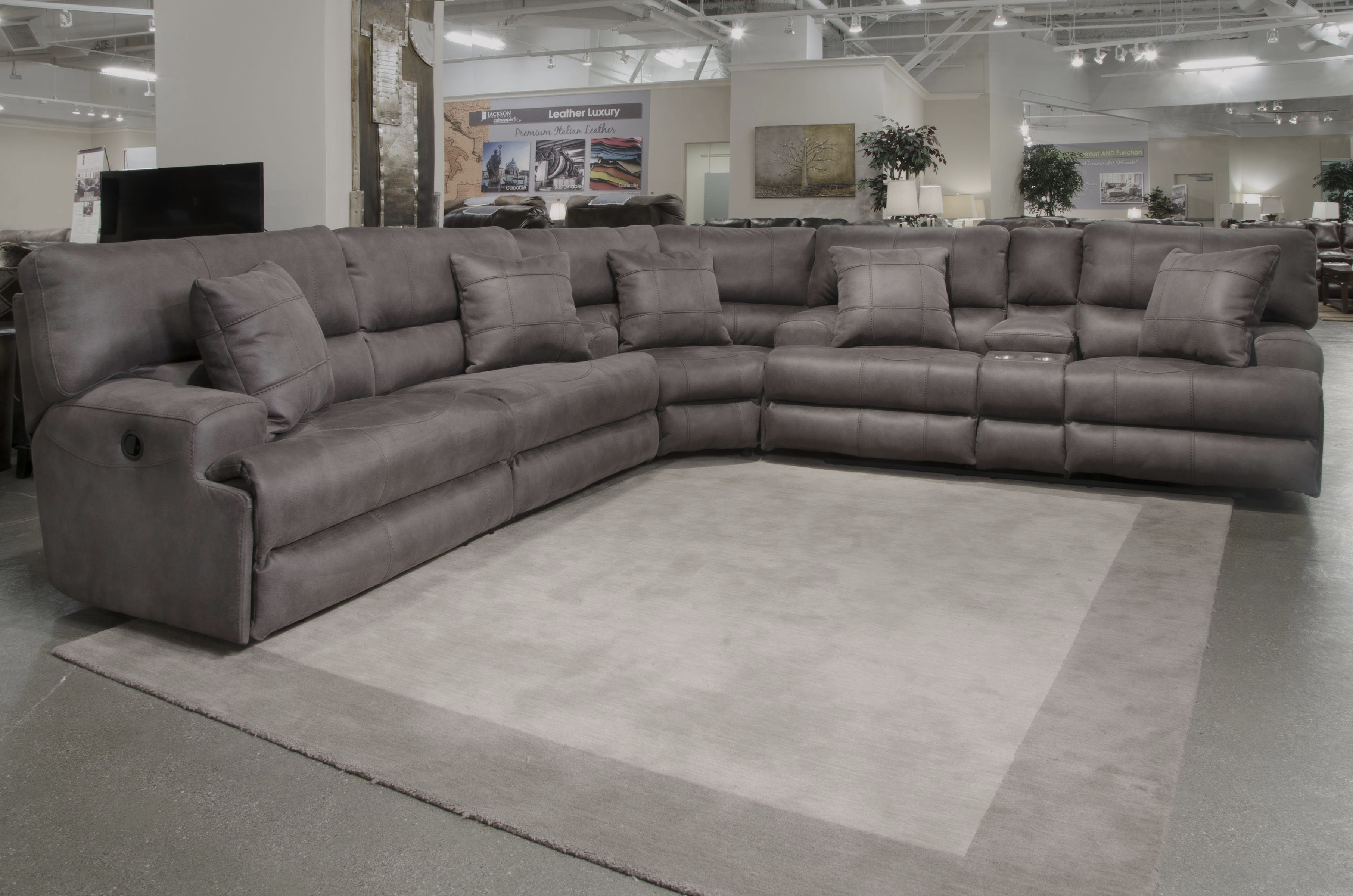 Catnapper Monaco Reclining Sectional | Wayfair pertaining to Jackson 6 Piece Power Reclining Sectionals With  Sleeper (Image 6 of 30)