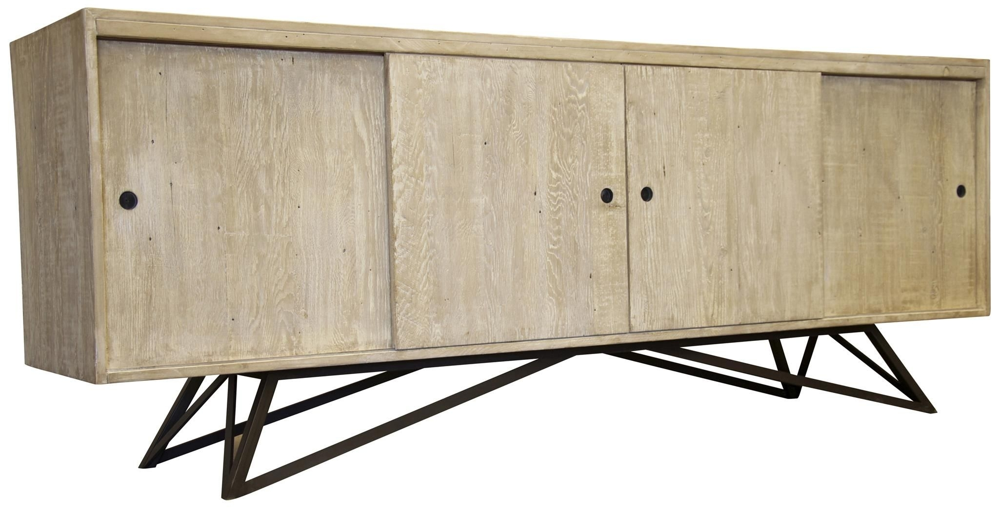 Cfc Byron Sideboard | Mid Century Style, Buffet And Grey Wash for Corrugated White Wash Sideboards (Image 4 of 30)