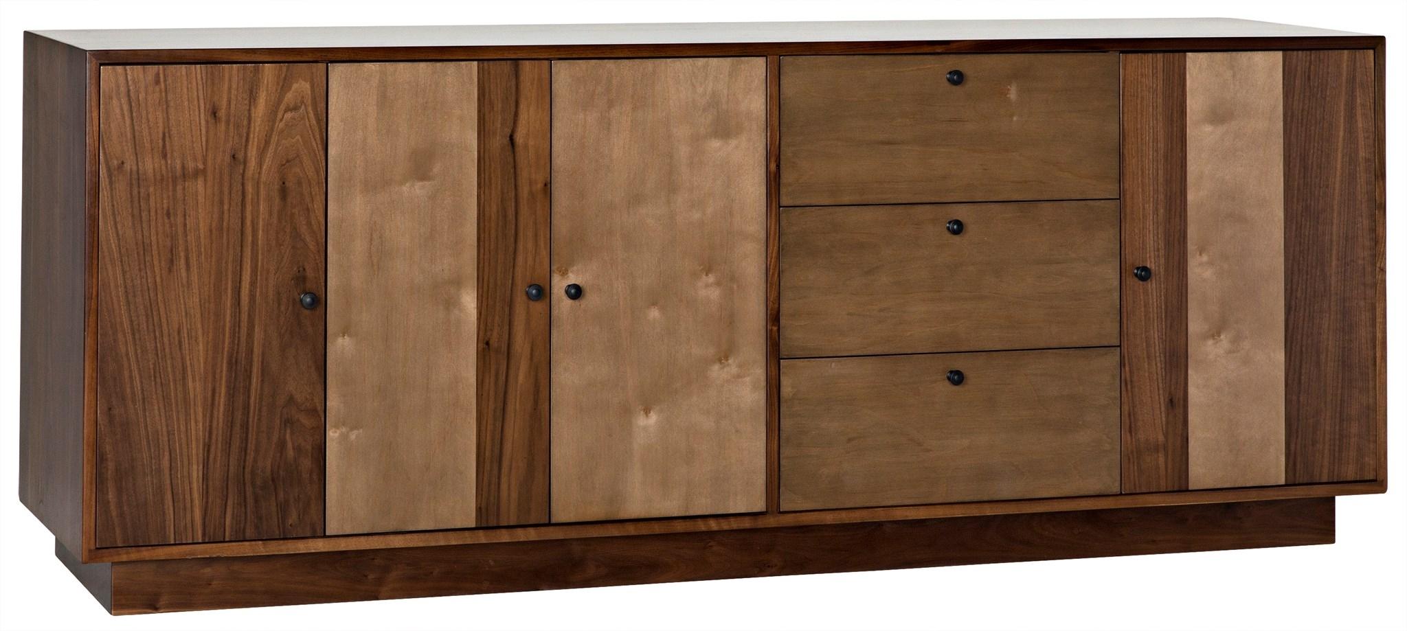 Cfc :: in Walnut Finish 4-Door Sideboards (Image 4 of 30)