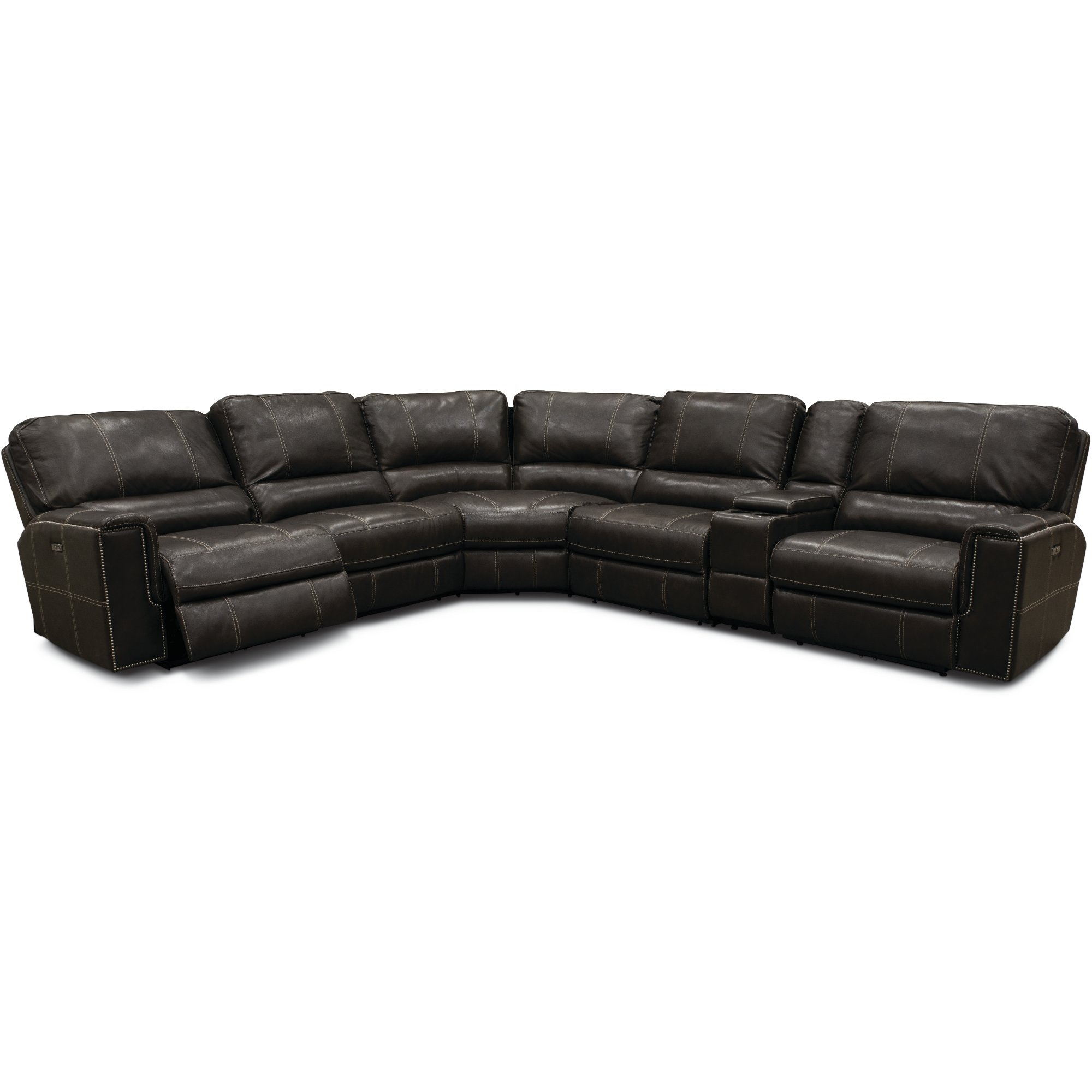 Charcoal Gray 6 Piece Power Reclining Sectional Sofa - Salinger | Rc pertaining to Denali Charcoal Grey 6 Piece Reclining Sectionals With 2 Power Headrests (Image 7 of 30)