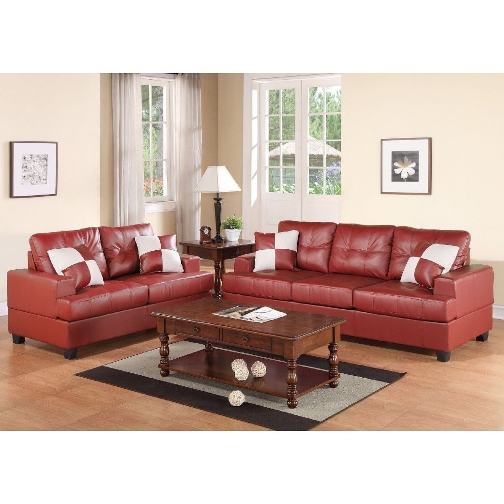 Charter 2-Pcs Sofa Set (Red) | Products | Pinterest | Sofa Set And intended for Tenny Cognac 2 Piece Right Facing Chaise Sectionals With 2 Headrest (Image 5 of 30)