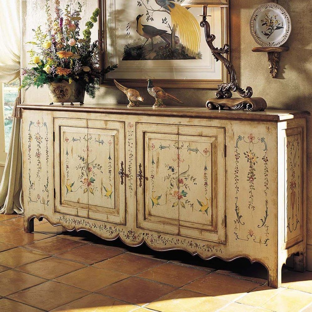 Chelsea House 380055 French Country Buffet Sideboard, Cream | Little within Helms Sideboards (Image 10 of 30)