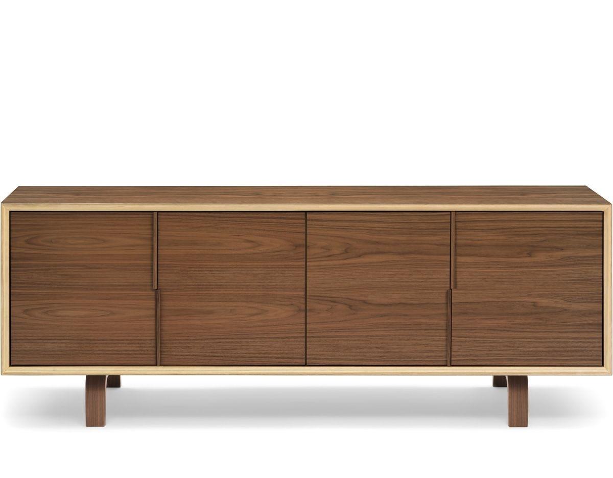 Cherner 4 Door Credenza   Credenza, Doors And Plywood throughout Walnut Finish 4-Door Sideboards (Image 5 of 30)