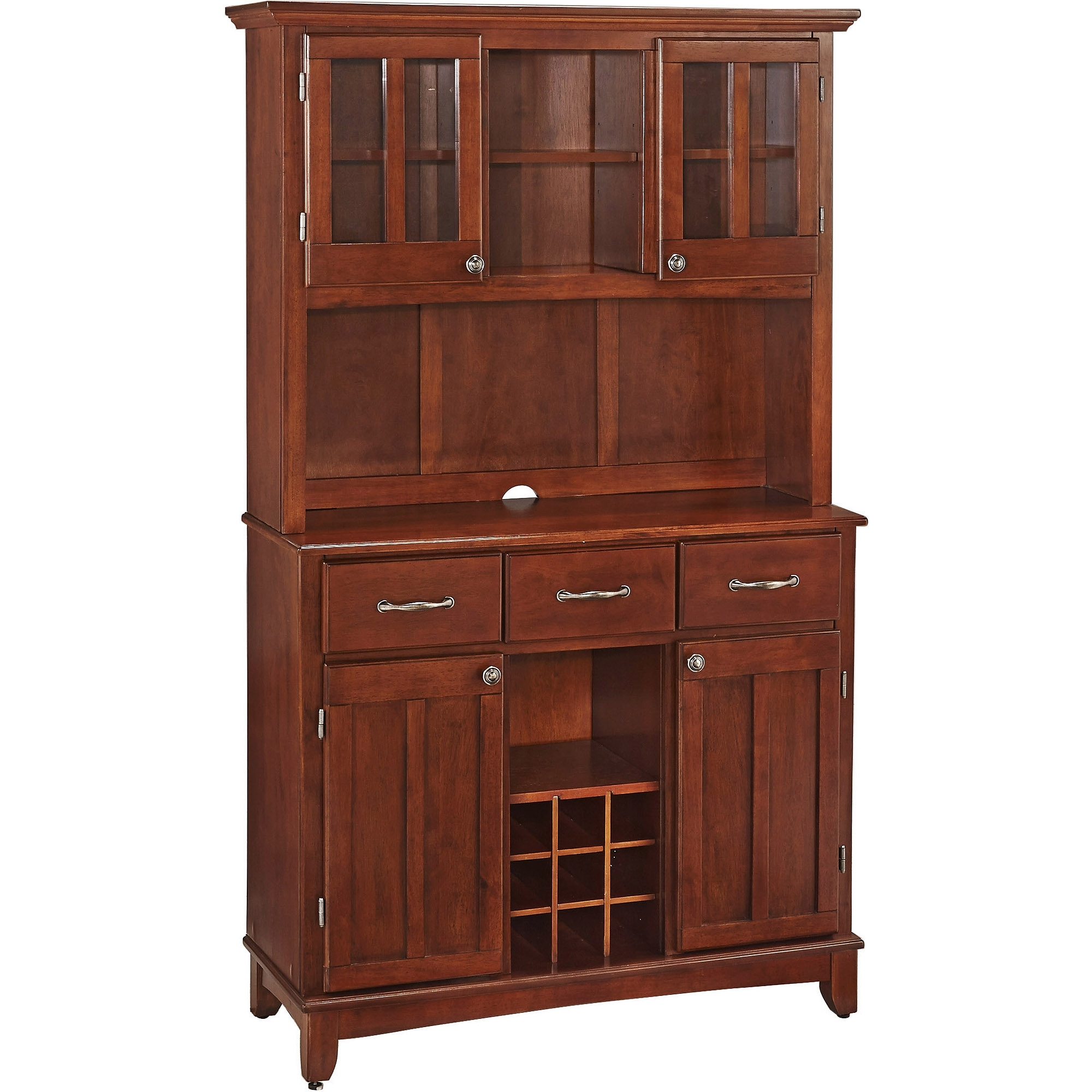 China Cabinets - Walmart inside Brown Wood 72 Inch Sideboards (Image 10 of 30)