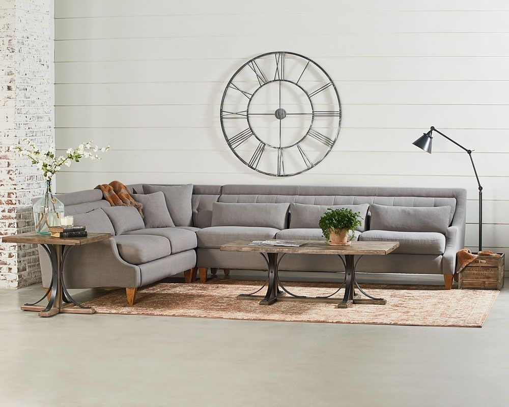 Chisel Sectional Sofa Living Room - Magnolia Home | Home I'll Never with Magnolia Home Homestead 3 Piece Sectionals By Joanna Gaines (Image 9 of 30)