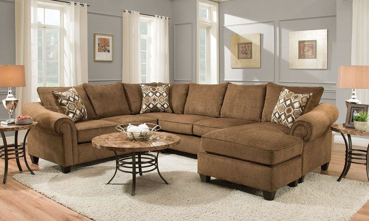 Chocolate Roll Arm Sectional With Reversible Chaise | The Dump Luxe in Norfolk Chocolate 6 Piece Sectionals (Image 6 of 30)