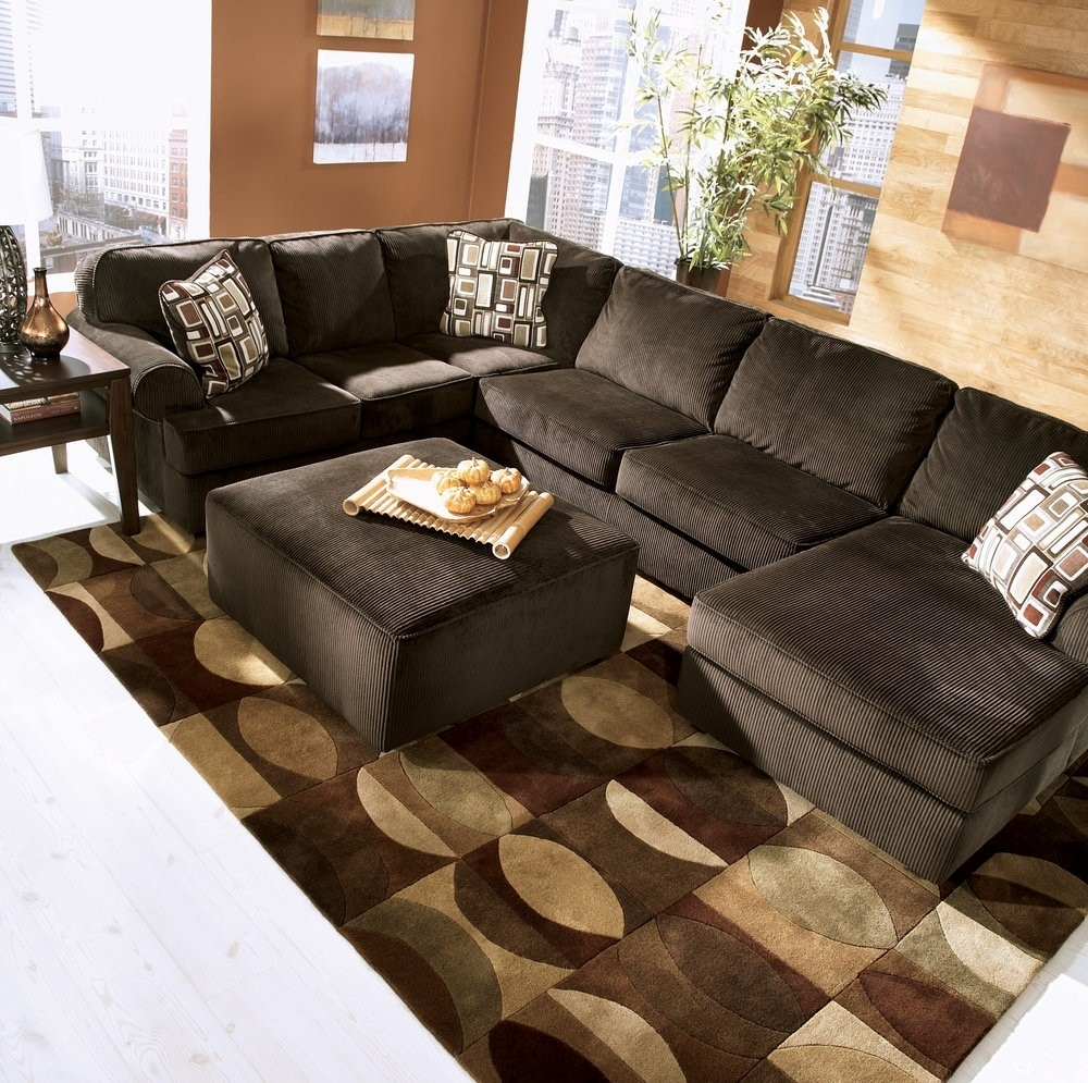 Chocolate Sectional Sofa Set With Chaise | Baci Living Room in Norfolk Chocolate 3 Piece Sectionals With Raf Chaise (Image 7 of 30)