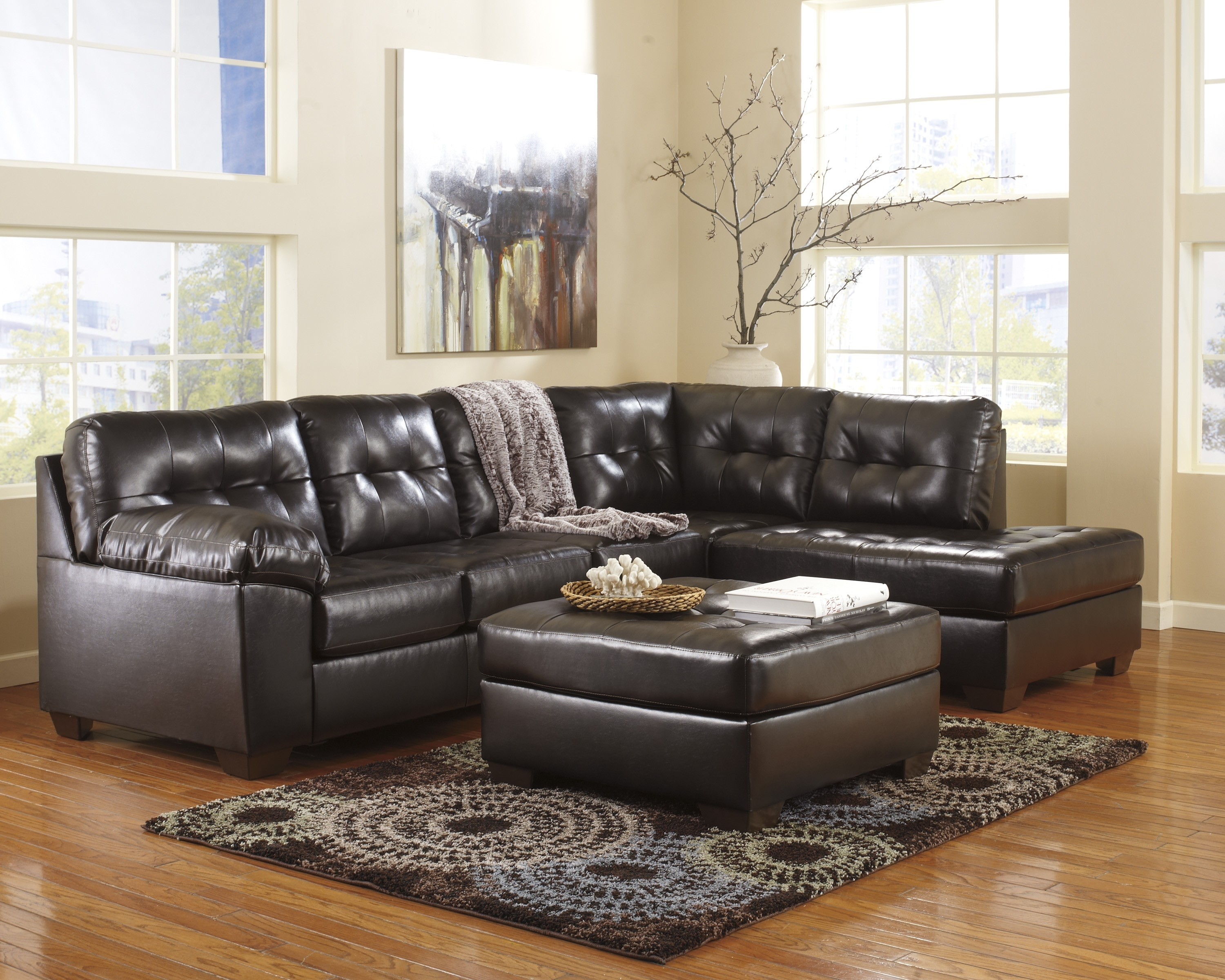 Chocolate Sectional Sofa Set With Chaise | Baci Living Room with Norfolk Chocolate 6 Piece Sectionals With Laf Chaise (Image 4 of 30)