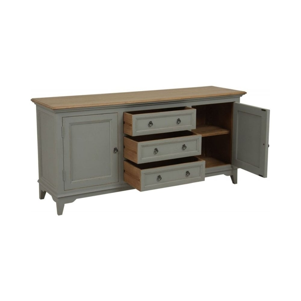 Classic Furniture Normandy Painted Sideboard -2 Door 3 Drawer Wide inside 3-Drawer/2-Door Sideboards (Image 7 of 30)