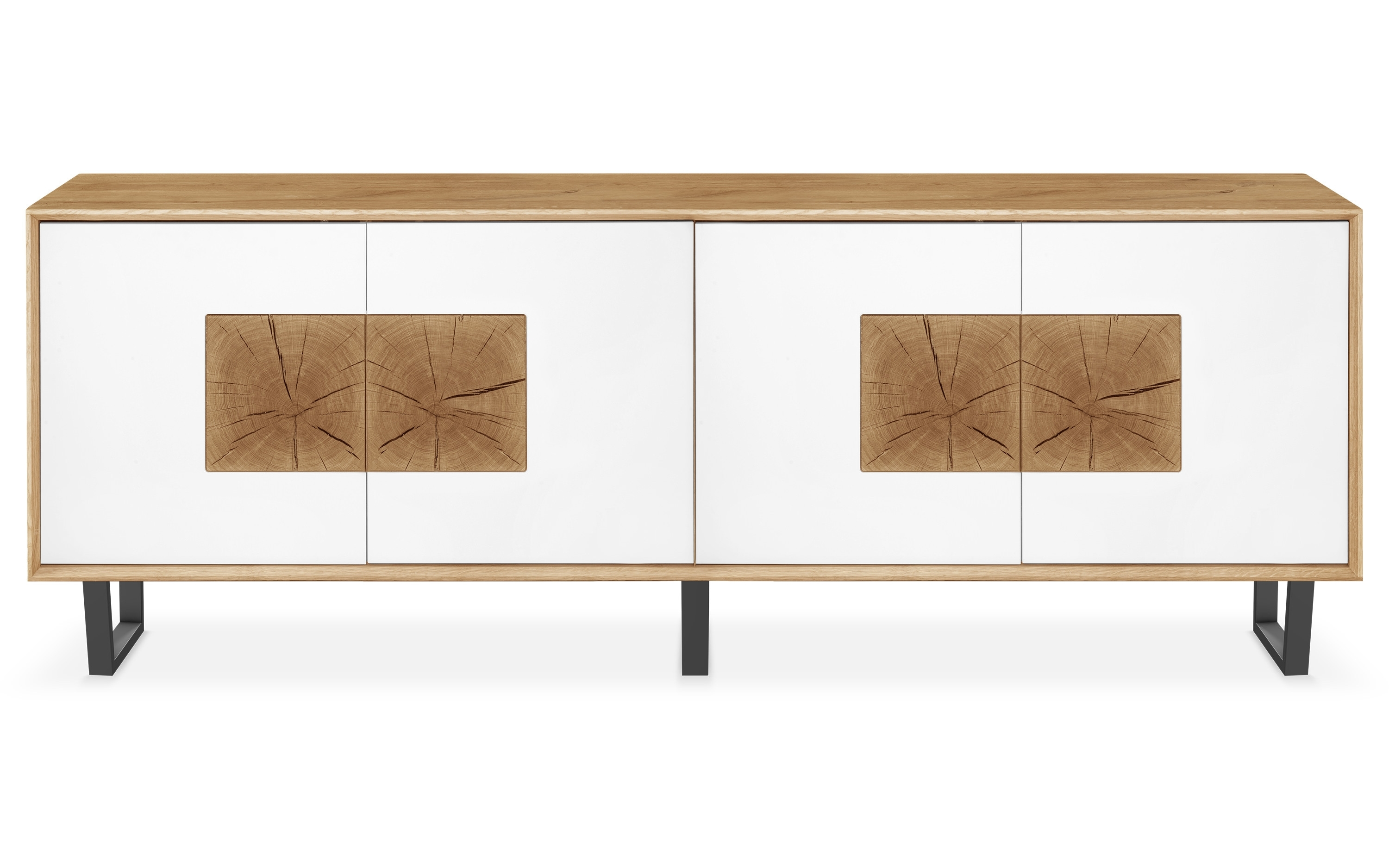 Clemence Richard | Modena | 4 Door Large Sideboard | Kontenta inside Metal Refinement 4 Door Sideboards (Image 11 of 30)