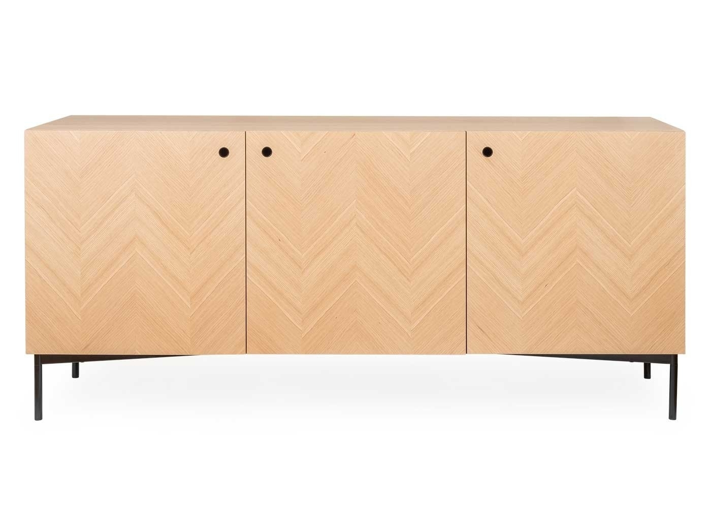 Clifton Sideboard with regard to Brown Chevron 4-Door Sideboards (Image 12 of 30)