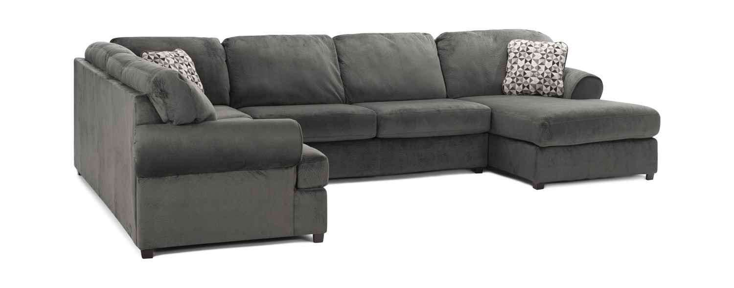 Coach 3 Piece Sectional | Hom Furniture in Turdur 2 Piece Sectionals With Laf Loveseat (Image 4 of 30)