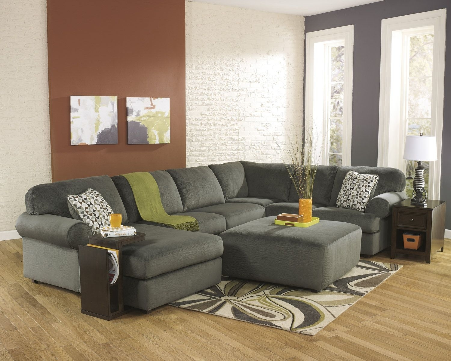 "Coach 3 Piece Sectional ""Pewter"" 