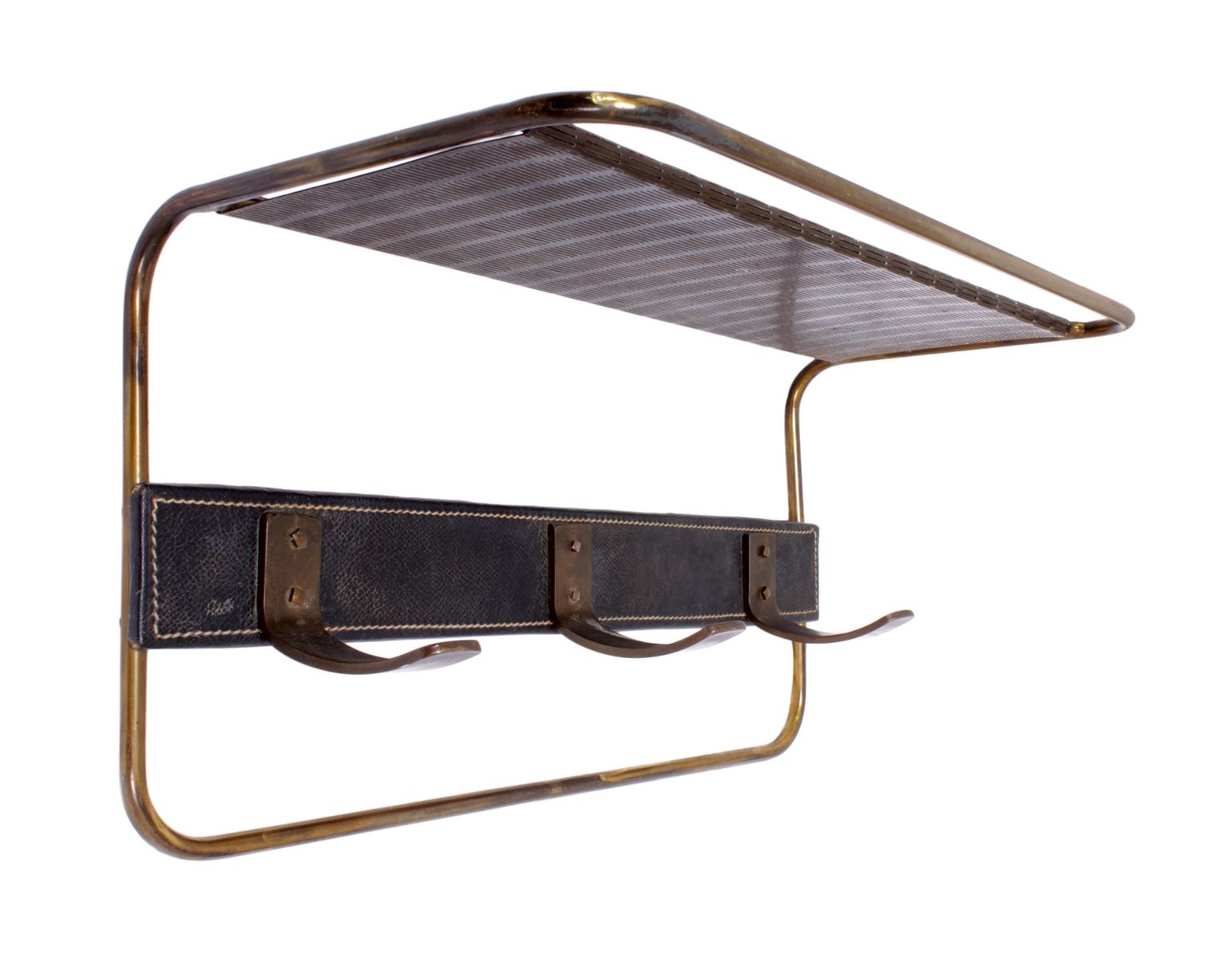 Coat Rackjacques Adnet, 1950S For Sale At Pamono throughout Gunmetal Perforated Brass Sideboards (Image 17 of 30)