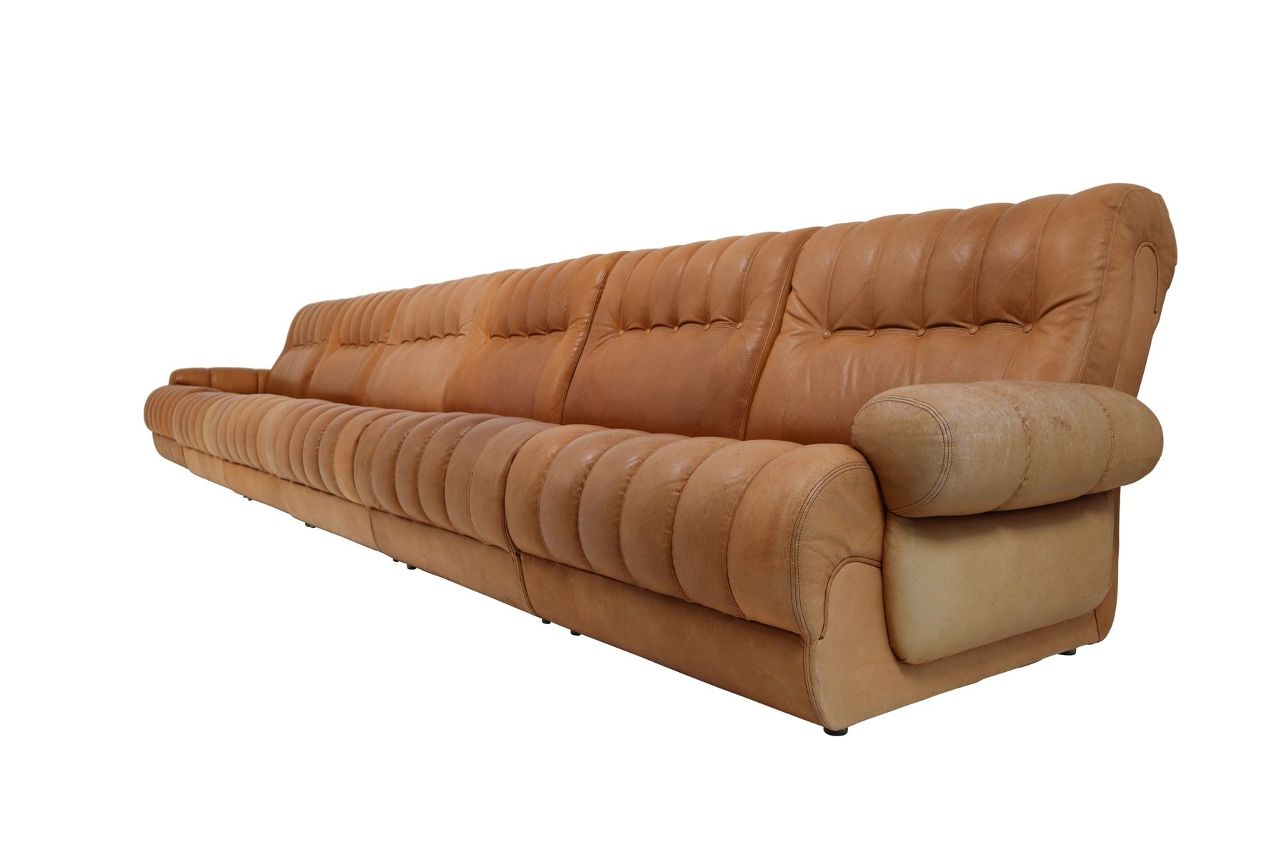 Cognac Leather Sectional Sofa | Baci Living Room throughout Tenny Cognac 2 Piece Left Facing Chaise Sectionals With 2 Headrest (Image 6 of 30)
