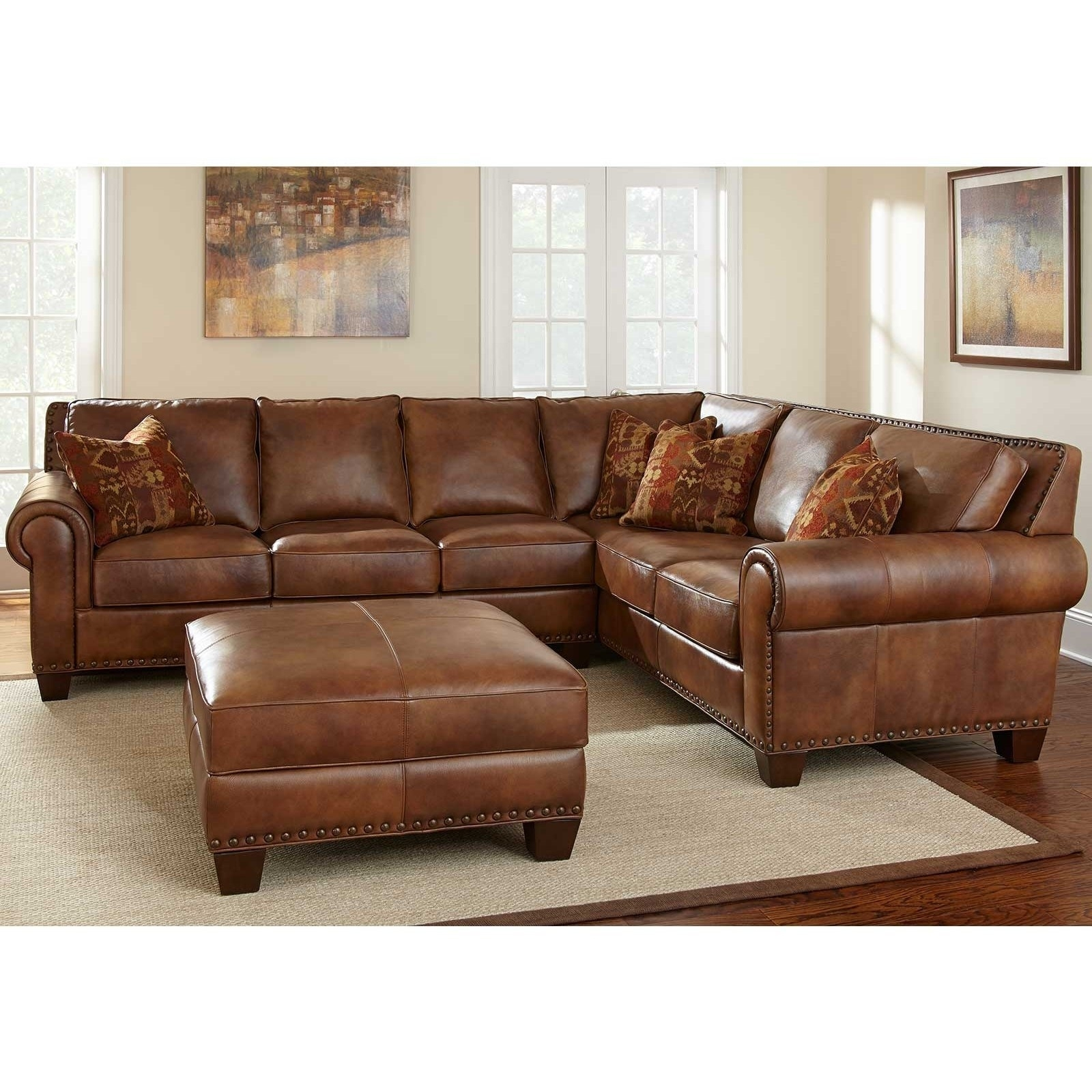 Cognac Sectional Sofa @ay13 – Roccommunity intended for Tenny Dark Grey 2 Piece Left Facing Chaise Sectionals With 2 Headrest (Image 10 of 30)