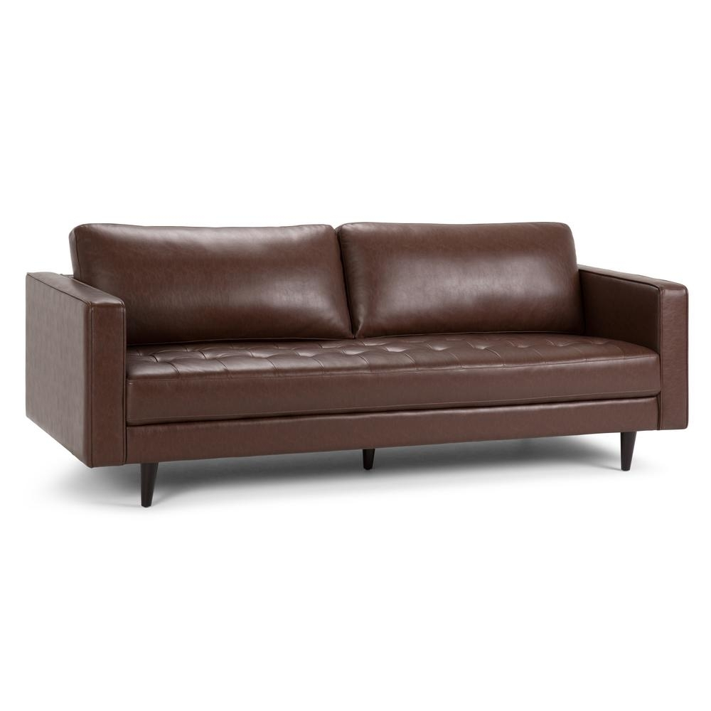 Cognac Sofa | Baci Living Room inside Tenny Dark Grey 2 Piece Left Facing Chaise Sectionals With 2 Headrest (Image 11 of 30)