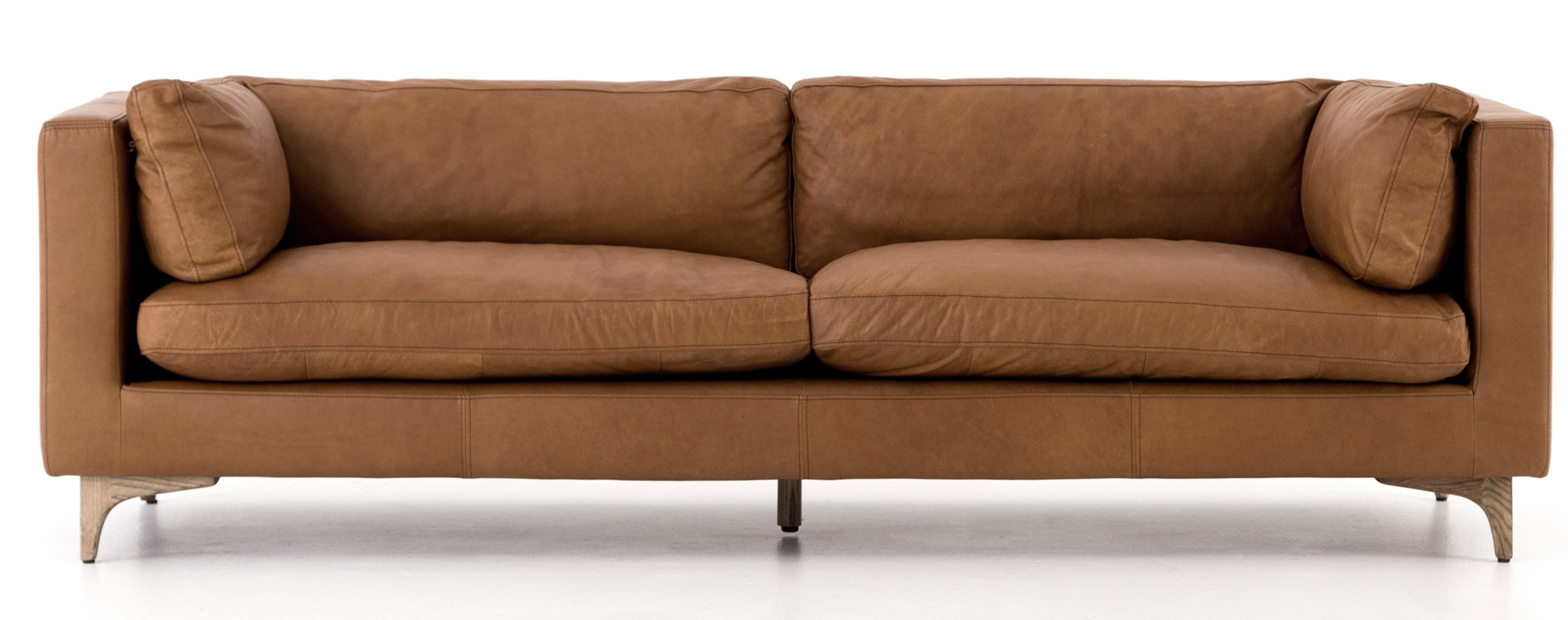 Cognac Sofa | Baci Living Room with Tenny Cognac 2 Piece Left Facing Chaise Sectionals With 2 Headrest (Image 10 of 30)