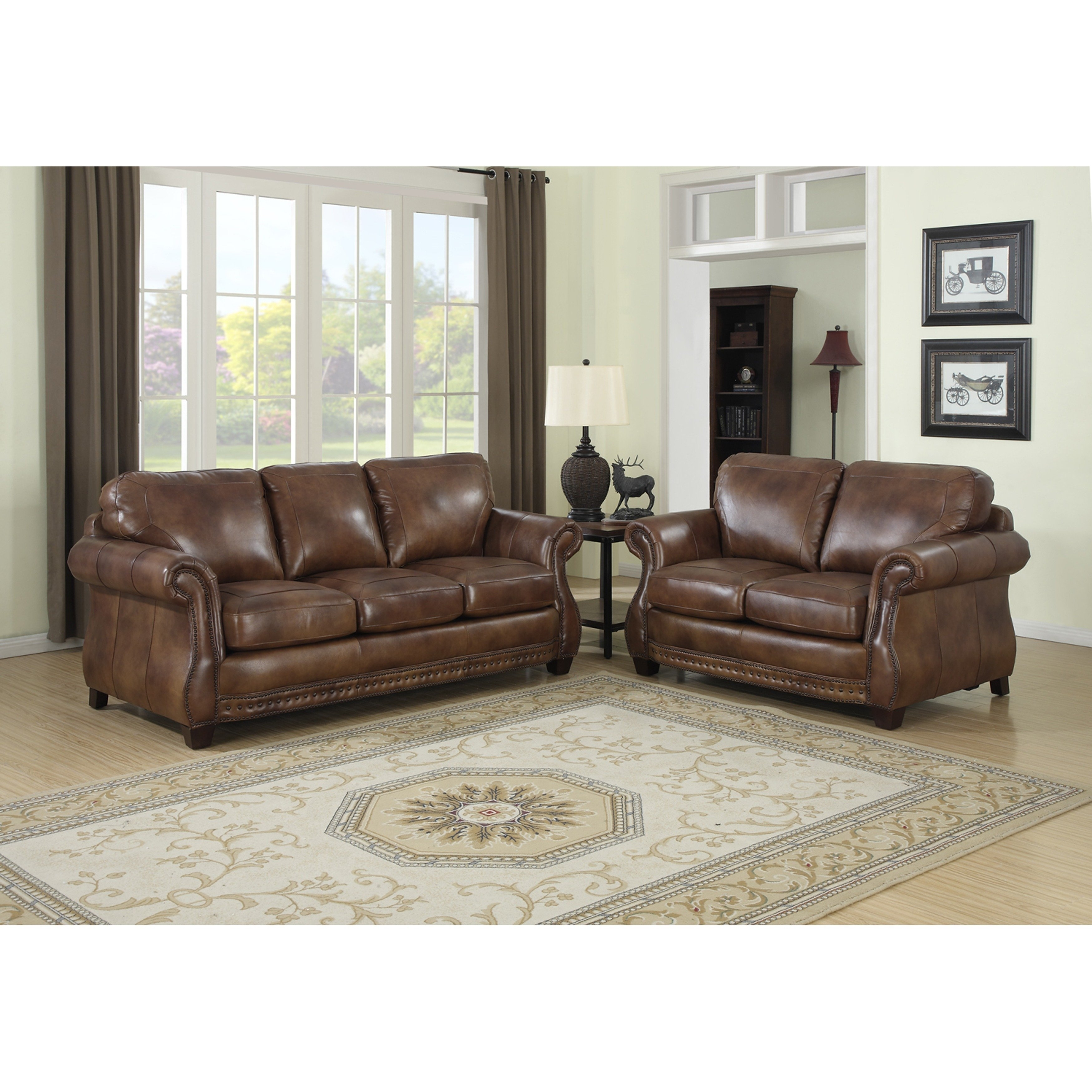 Cognac Sofa | Baci Living Room within Tenny Cognac 2 Piece Left Facing Chaise Sectionals With 2 Headrest (Image 11 of 30)