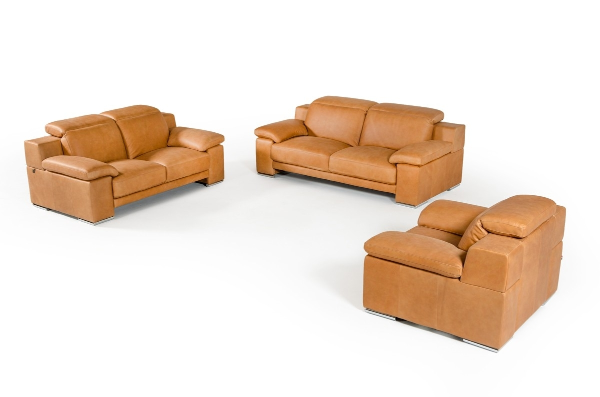 Cognac Sofa. Cognac Color Leather Sofa Vintage Danish For Sale At inside Tenny Cognac 2 Piece Right Facing Chaise Sectionals With 2 Headrest (Image 11 of 30)