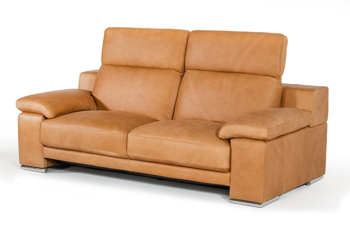 Cognac Sofa. Cognac Color Leather Sofa Vintage Danish For Sale At within Tenny Cognac 2 Piece Right Facing Chaise Sectionals With 2 Headrest (Image 12 of 30)