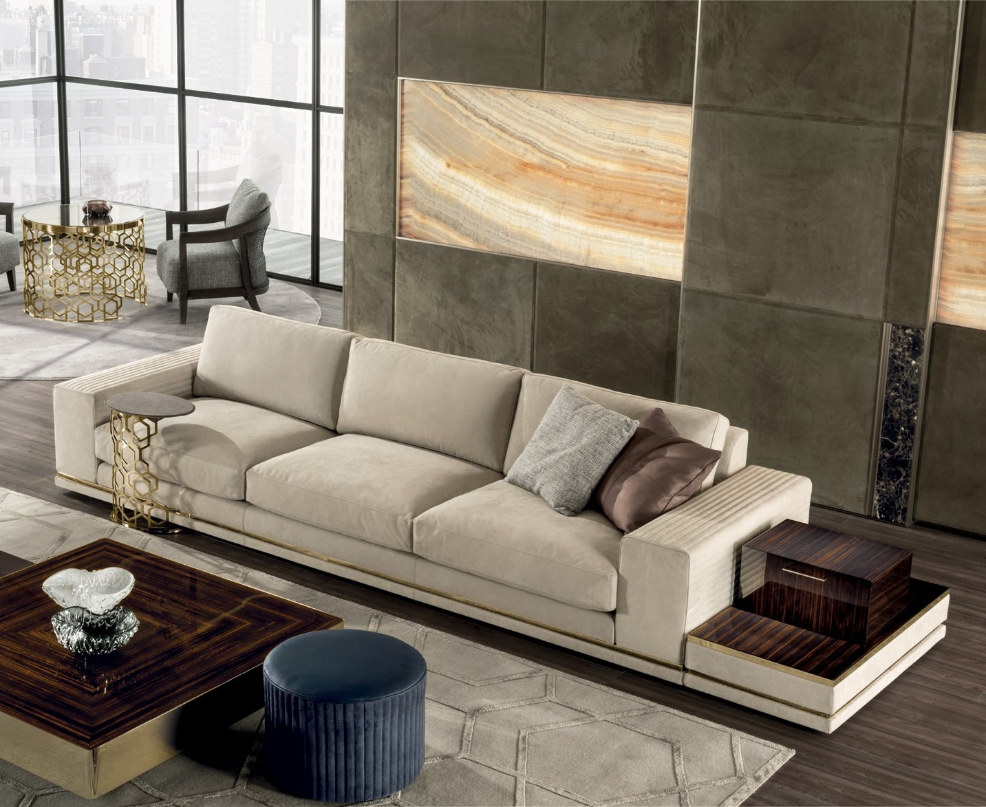 Cohen High-End Italian Sofa - Italian Designer & Luxury Furniture At with Cohen Down 2 Piece Sectionals (Image 5 of 30)
