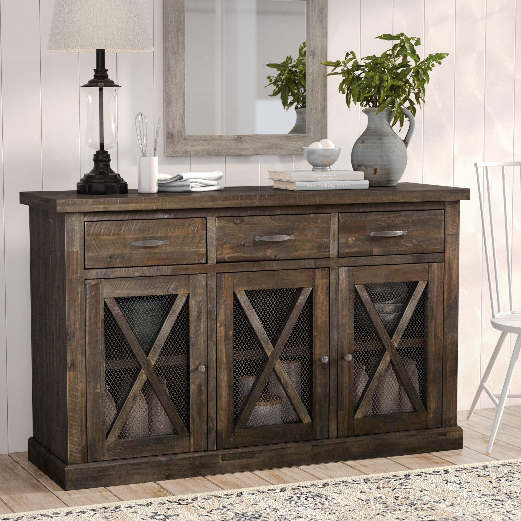 Colborne Sideboard & Reviews | Joss & Main inside Acacia Wood 4-Door Sideboards (Image 6 of 30)