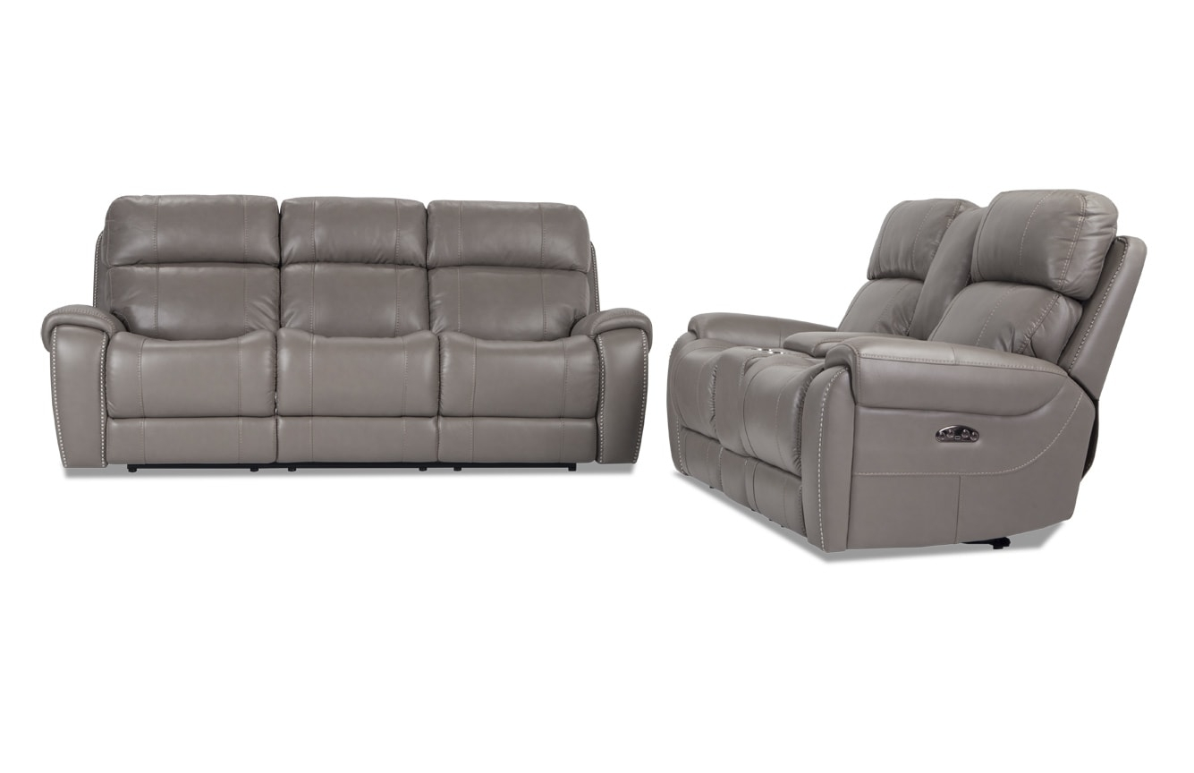 Collections | Living Room Collections | Bob's Discount Furniture with Marcus Chocolate 6 Piece Sectionals With Power Headrest and Usb (Image 6 of 30)