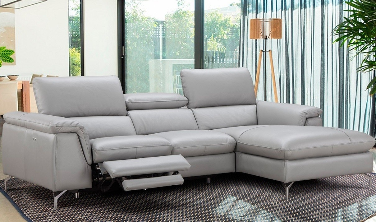 Comfy Rightfacing Chaise Serena Premium Lear Sectional Sofa Serena inside Tenny Dark Grey 2 Piece Left Facing Chaise Sectionals With 2 Headrest (Image 12 of 30)