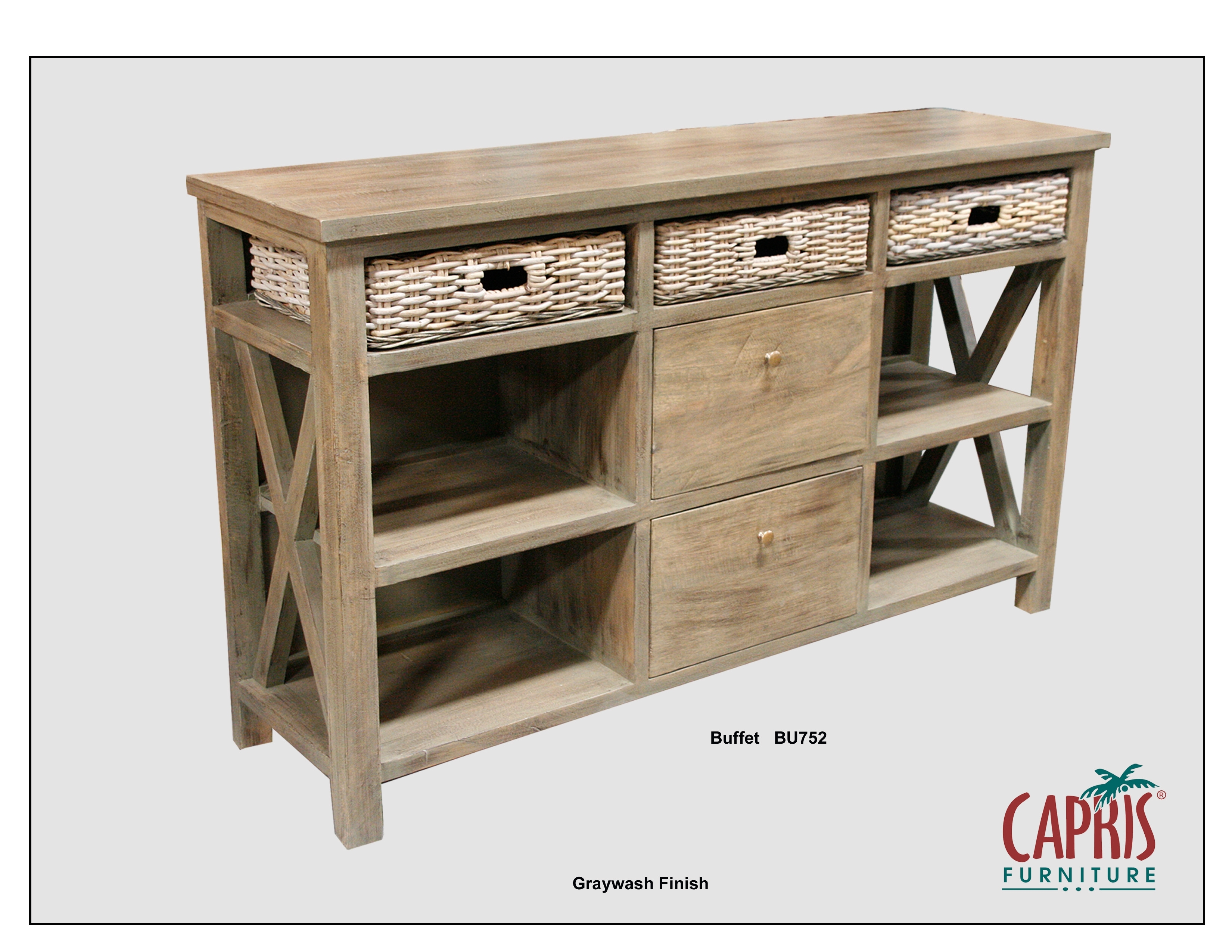 Consoles & Cabinets | Redbarn Furniture in 2-Door/2-Drawer Cast Jali Sideboards (Image 4 of 30)