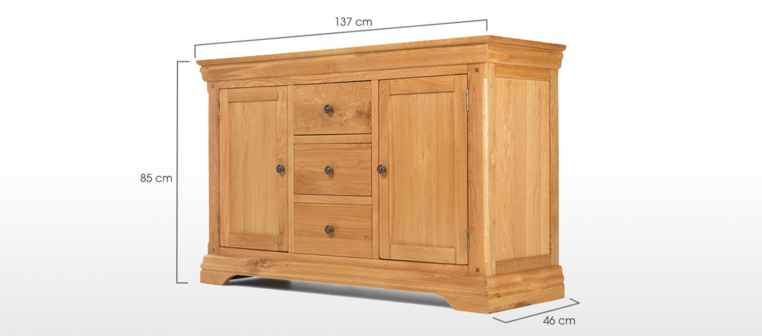 Constance Oak Large Sideboard | Quercus Living inside Walnut Small Sideboards (Image 9 of 30)