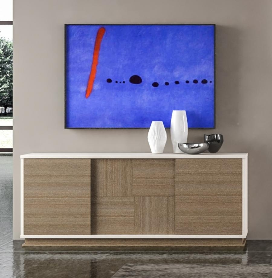 Contemporary Evolution Sidebeoard | Living Room Furniture | Modern with Walnut Finish Contempo Sideboards (Image 9 of 30)