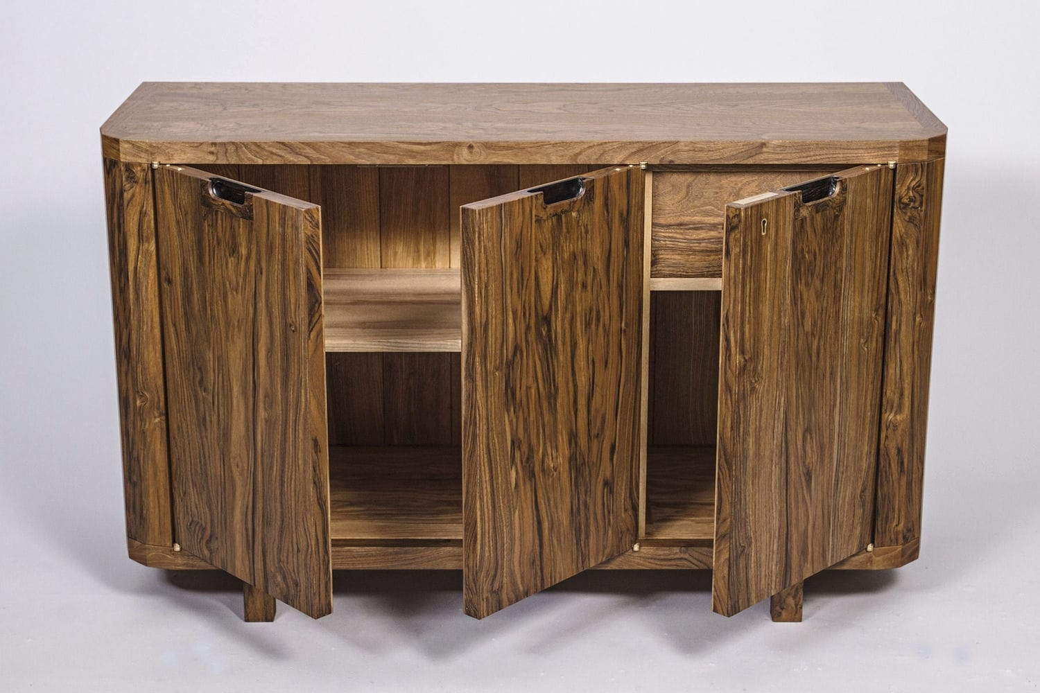 Contemporary Sideboard / Walnut / Ash - Harpenden - Colin Parker pertaining to Walnut Finish Contempo Sideboards (Image 10 of 30)