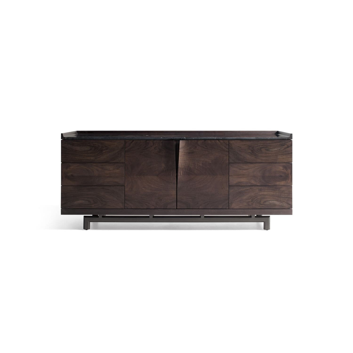 Contemporary Sideboard / Walnut / Contract - Alternative: Manta in Walnut Finish Contempo Sideboards (Image 11 of 30)