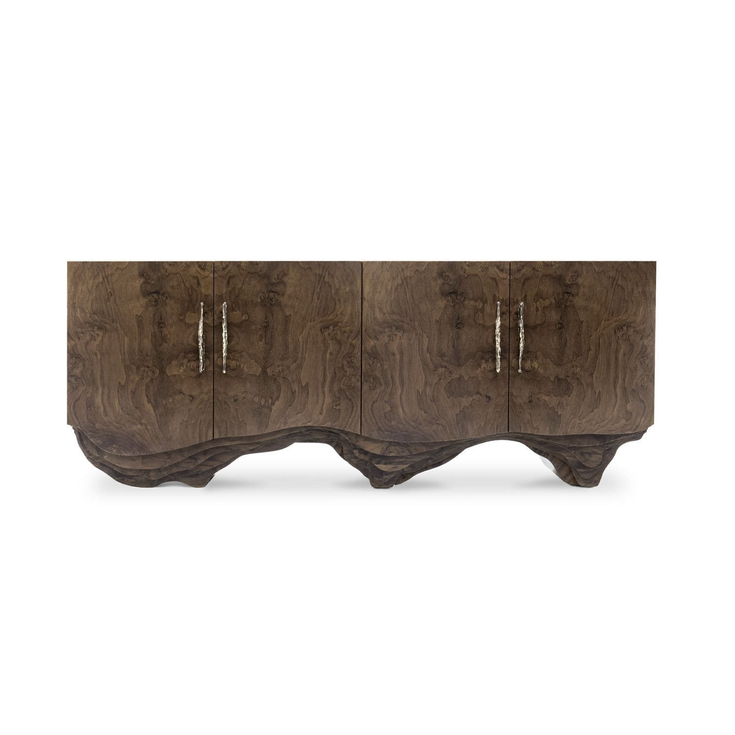 Contemporary Sideboard / Walnut / Wood Veneer / Polished Brass with regard to Aged Brass Sideboards (Image 6 of 30)