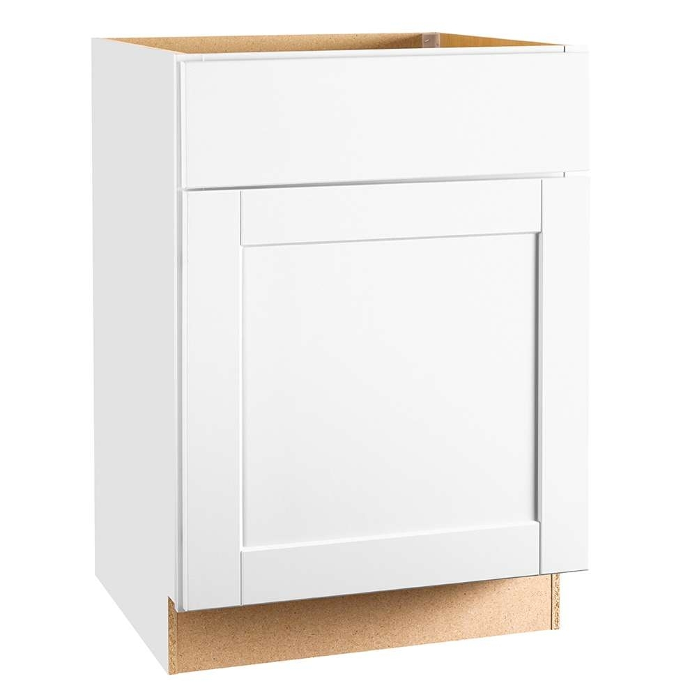 Continental Cabinets Cbkb24-Ssw 24-Inch X 24-Inch X 34-Inch White pertaining to Charcoal Finish 4-Door Jumbo Sideboards (Image 6 of 30)