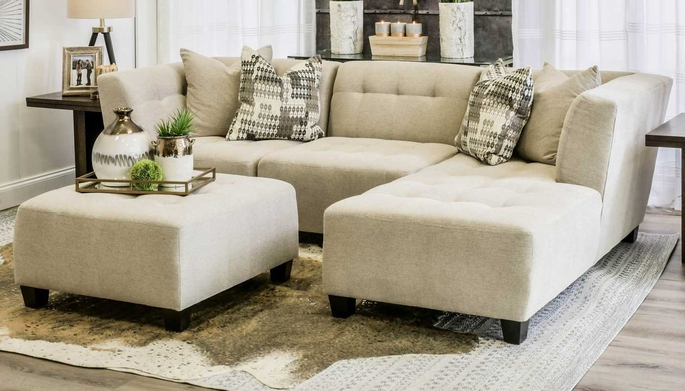 Cooper Oatmeal 3 Piece Sectional - Home Zone Furniture | Living Room pertaining to Jobs Oat 2 Piece Sectionals With Left Facing Chaise (Image 7 of 30)