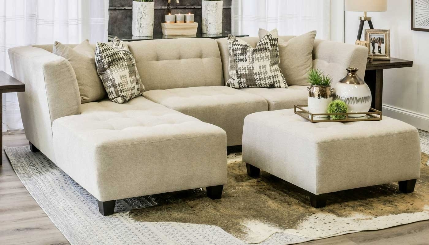 Cooper Oatmeal 3 Piece Sectional - Home Zone Furniture | Living Room throughout Jobs Oat 2 Piece Sectionals With Left Facing Chaise (Image 8 of 30)