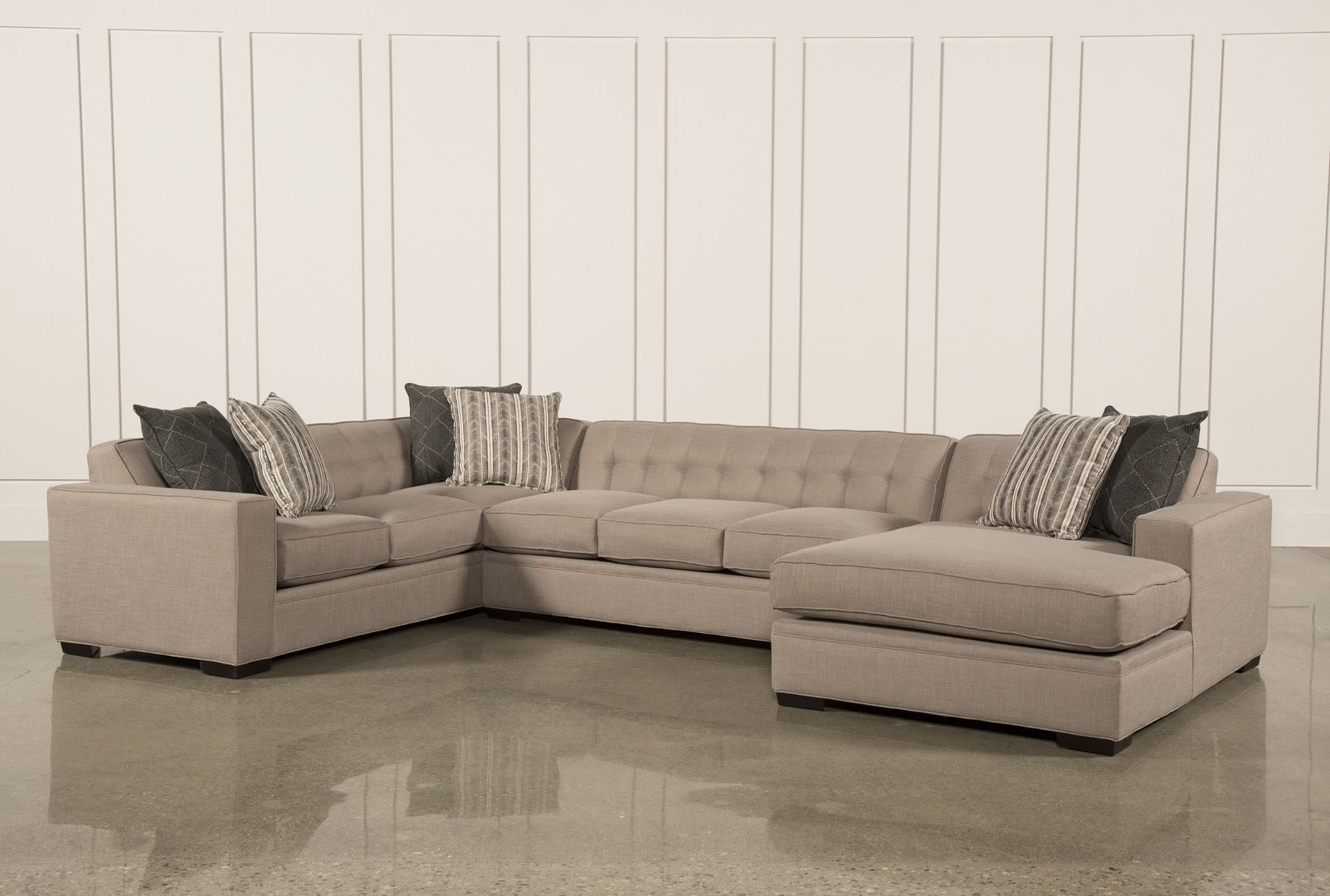 Corbin 3 Piece Sectional W/raf Chaise | New House: Loft | Pinterest regarding Norfolk Grey 3 Piece Sectionals With Raf Chaise (Image 6 of 30)