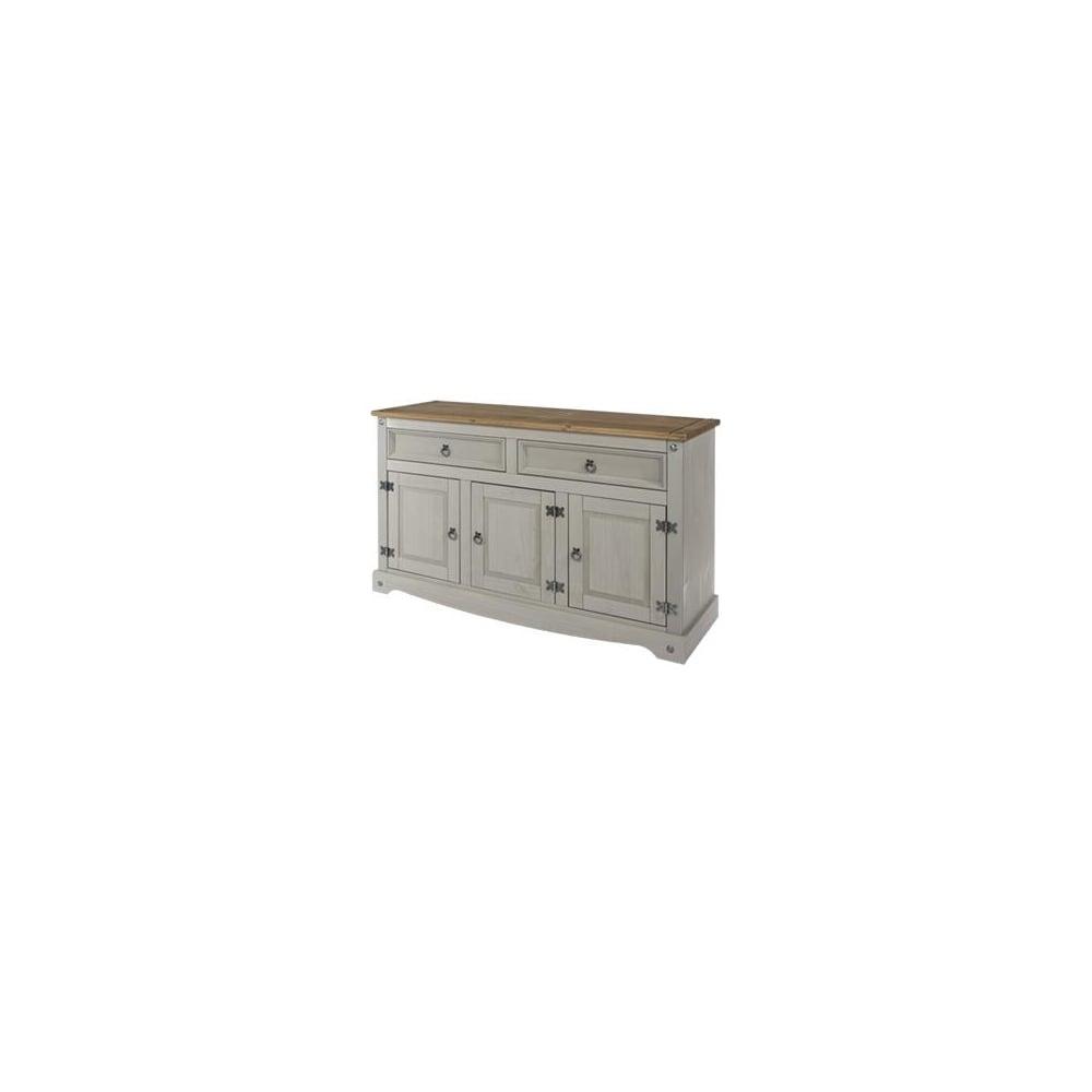 Corona Grey 2 Drawer & 3 Door Sideboard | The Furniture House within 2-Door White Wash Sideboards (Image 10 of 30)