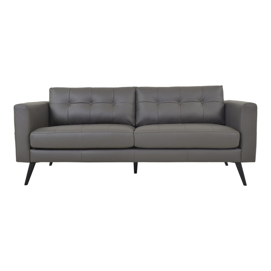 Cortado Leather Sofa Boulder Grey | Products | Moe's Wholesale regarding Jaxon Grey Sideboards (Image 6 of 30)