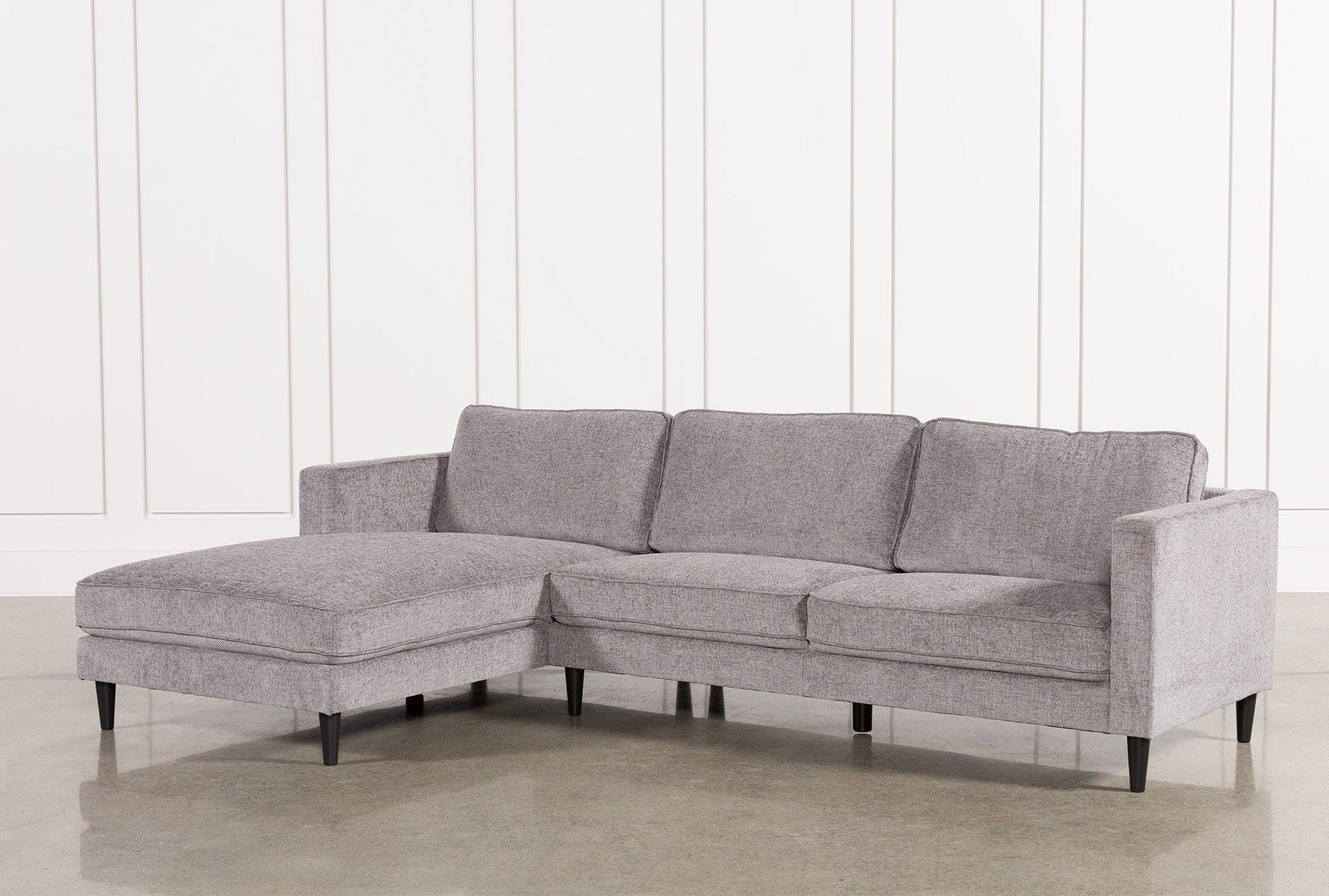 Cosmos Grey 2 Piece Sectional W/laf Chaise | Couches | Pinterest with Avery 2 Piece Sectionals With Raf Armless Chaise (Image 10 of 30)