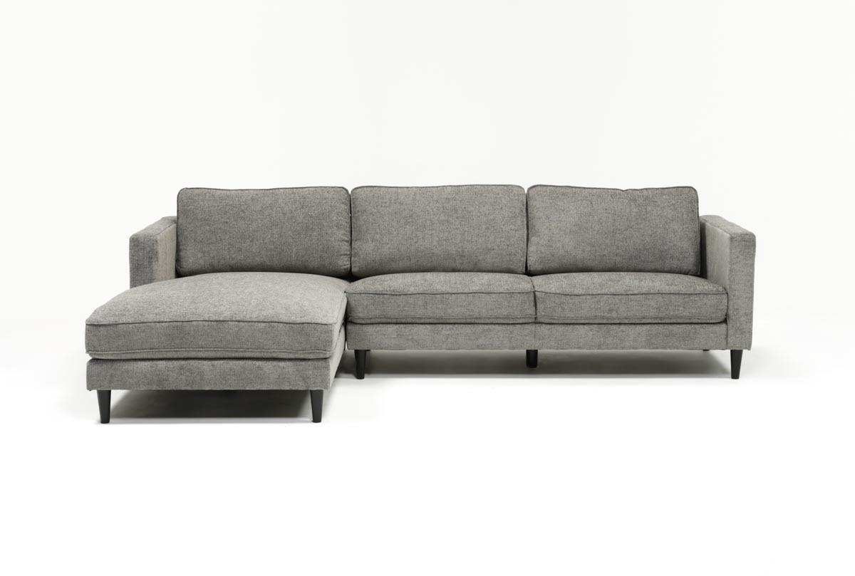 Cosmos Grey 2 Piece Sectional W/laf Chaise | Living Spaces within Aquarius Dark Grey 2 Piece Sectionals With Raf Chaise (Image 11 of 30)