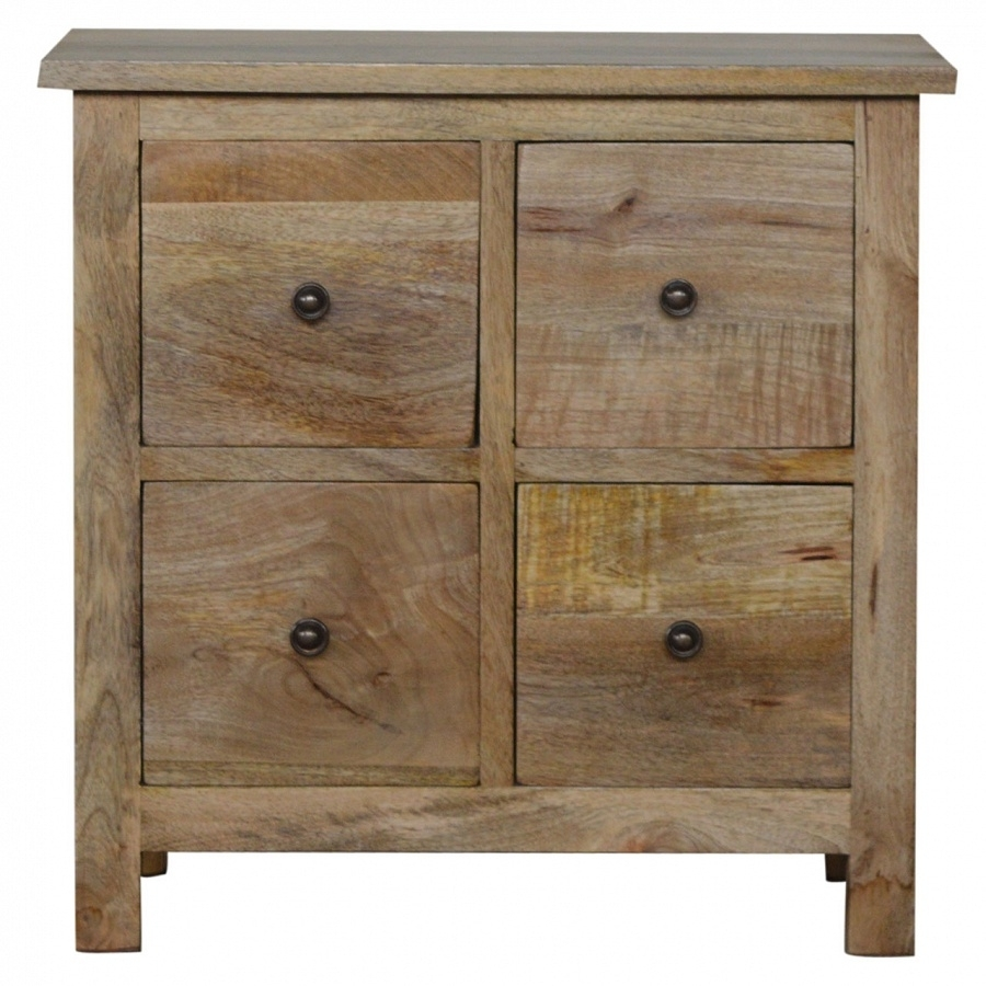 Country 4 Drawer Cd Cabinet Regarding Corrugated Natural 4 Drawer Sideboards (View 5 of 30)