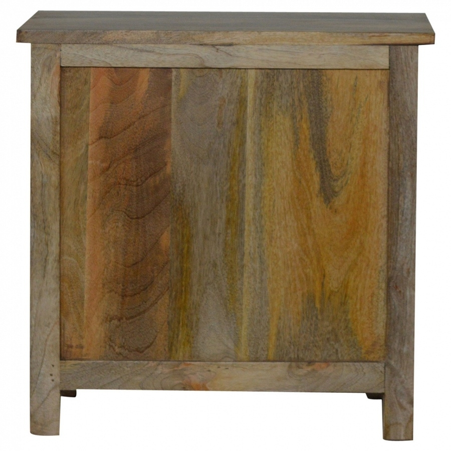 Country 4 Drawer Cd Cabinet Throughout Corrugated Natural 4 Drawer Sideboards (View 6 of 30)