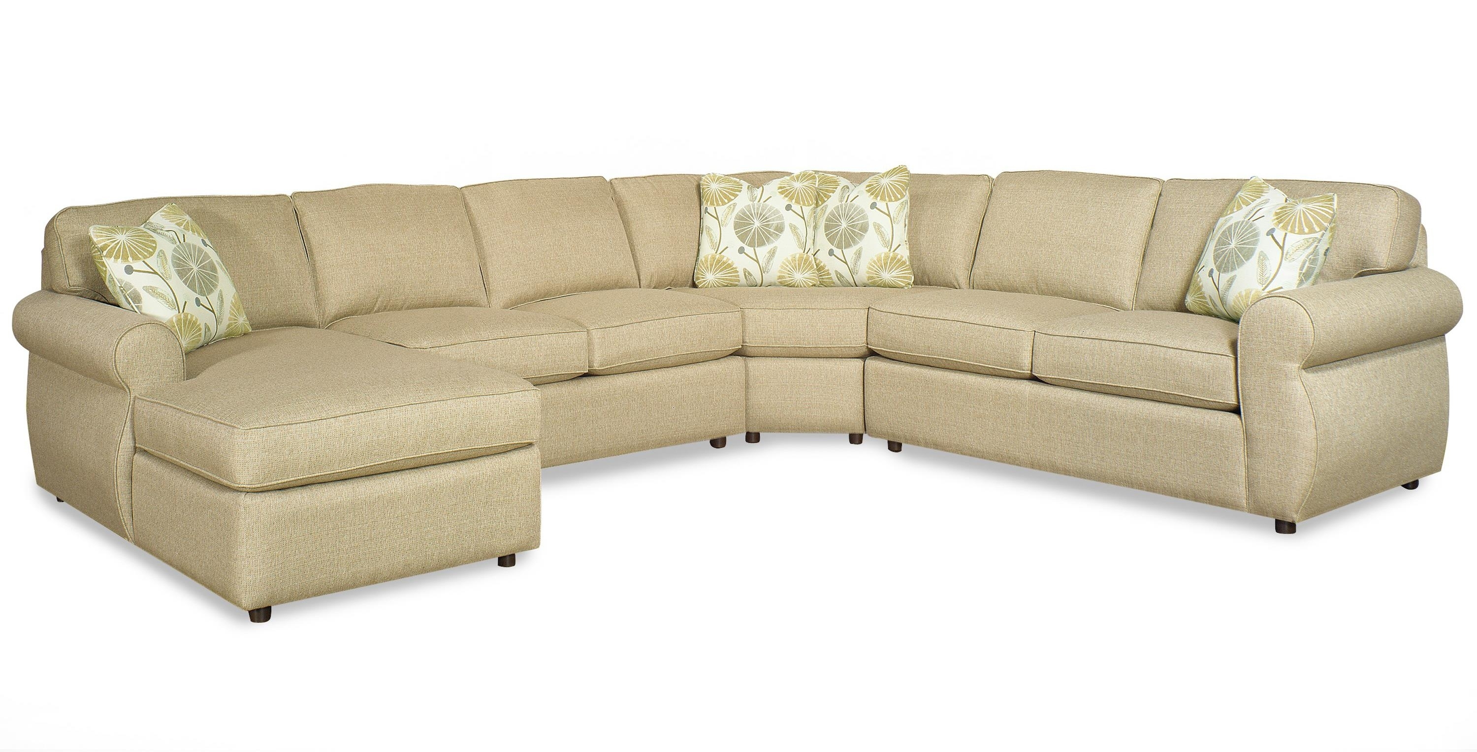 Craftmaster 730100 Transitional Four Piece Sectional Sofa With throughout Kerri 2 Piece Sectionals With Laf Chaise (Image 8 of 30)