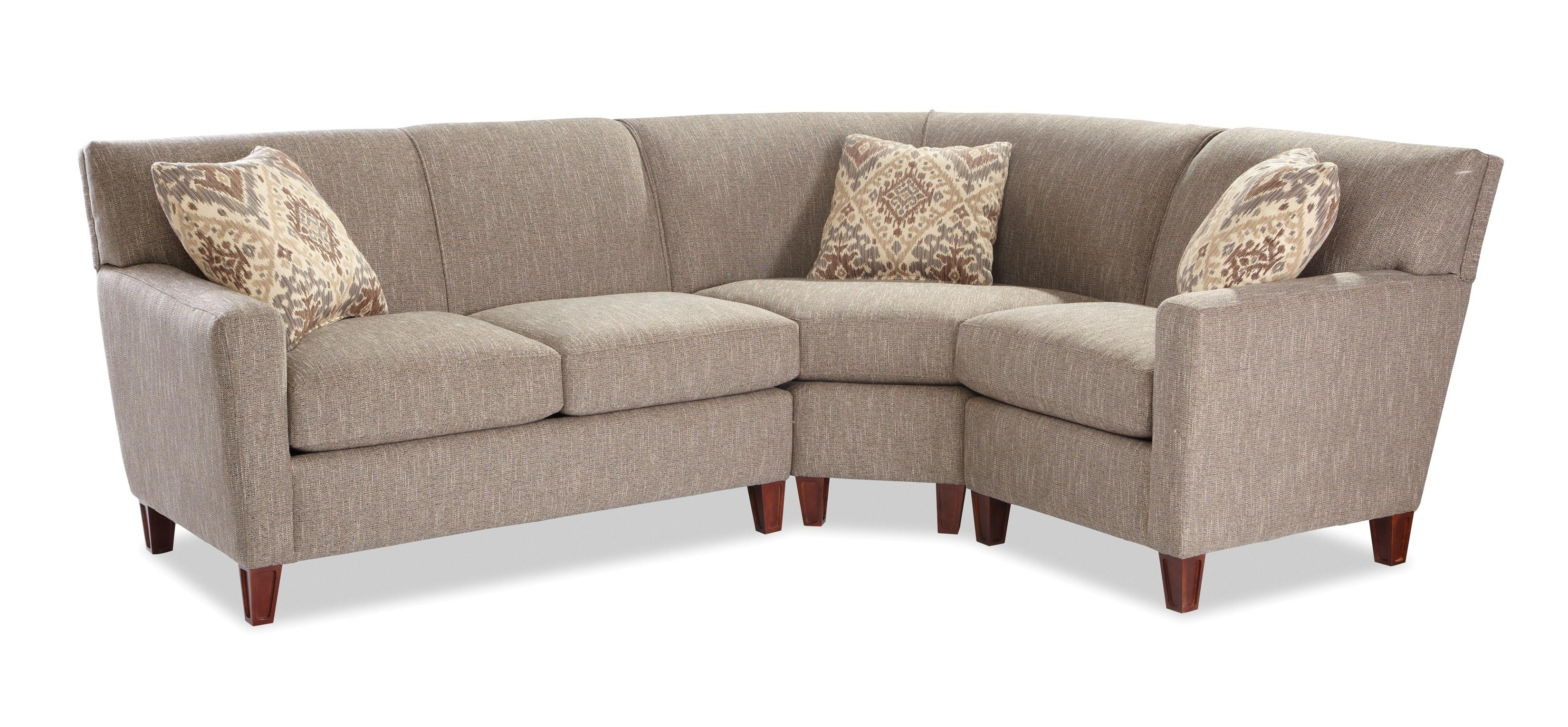 Craftmaster 7864 Three Piece Sectional Sofa With Laf Loveseat for Blaine 4 Piece Sectionals (Image 9 of 30)